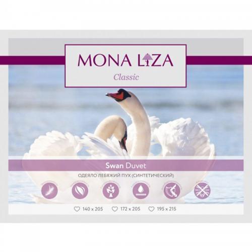 Одеяло Mona Liza Лебяжий пух 140х205см всесезонное 200 г/м2