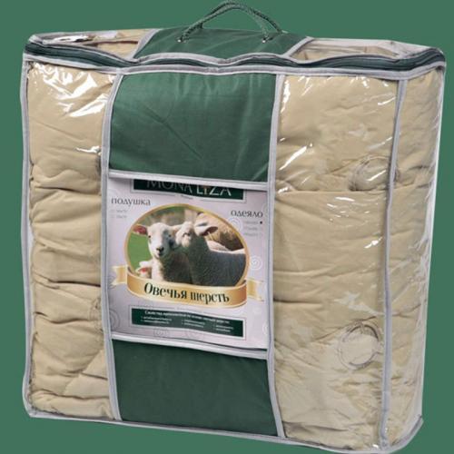 Одеяло Mona Liza Овечья шерсть 172х205см всесезонное 200 г/м2