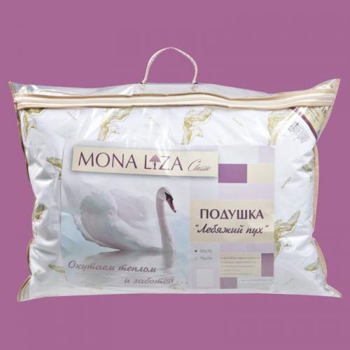 Подушка Mona Liza Лебяжий пух 50х70см мягкая