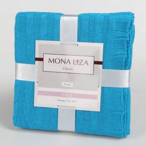 Вязаный плед Mona Liza Голубой 140х180см Акрил