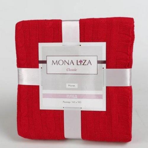 Вязаный плед Mona Liza Красный 140х180см Акрил