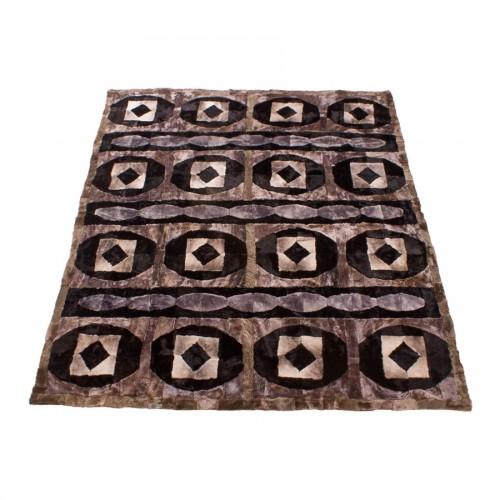Меховой ковёр «Пэтчворк»