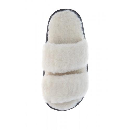 Тапочки из 100% овечьей шерсти белые Twenn Duo