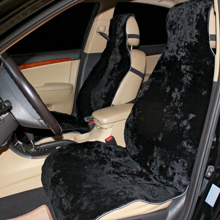 Накидка на сиденье автомобиля меховая А515