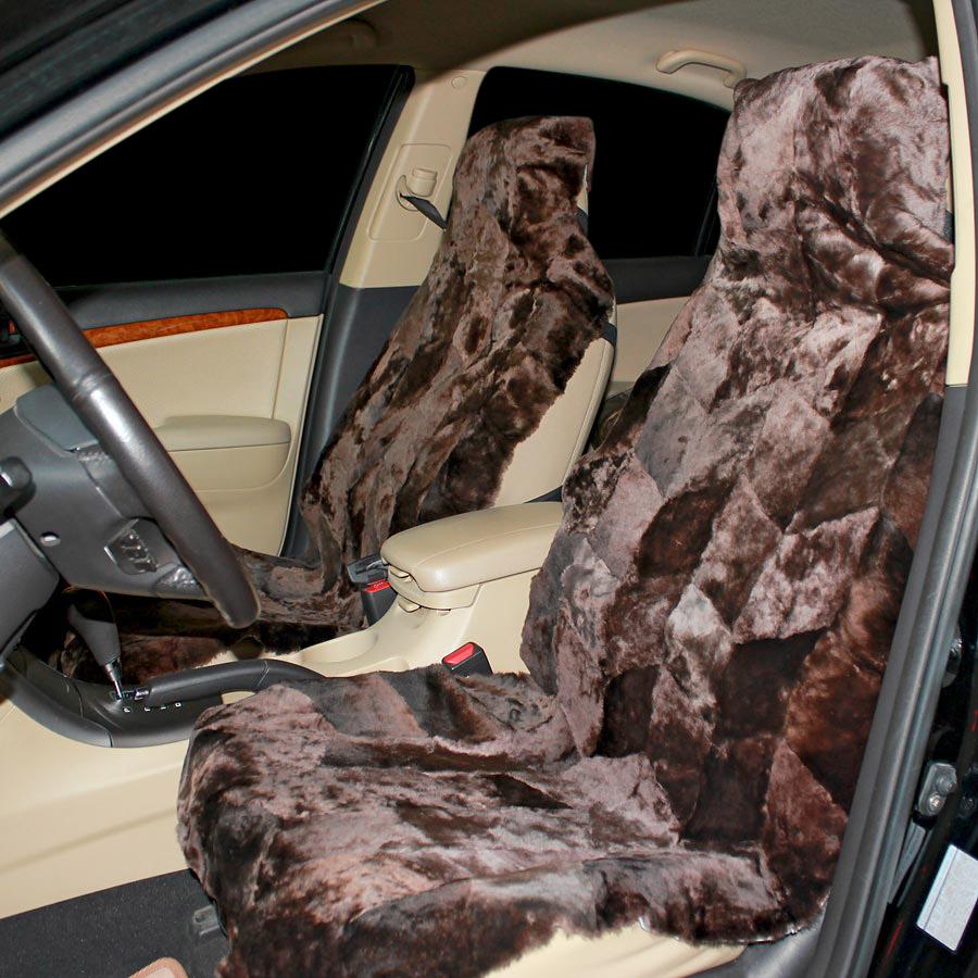 Накидка на сиденье автомобиля меховая А510