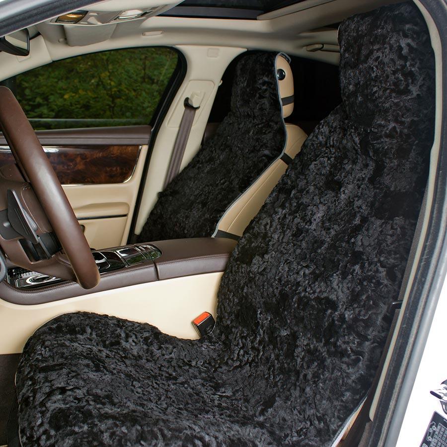 Накидка на авто сиденье  А 538 меховая 145 х 60 см