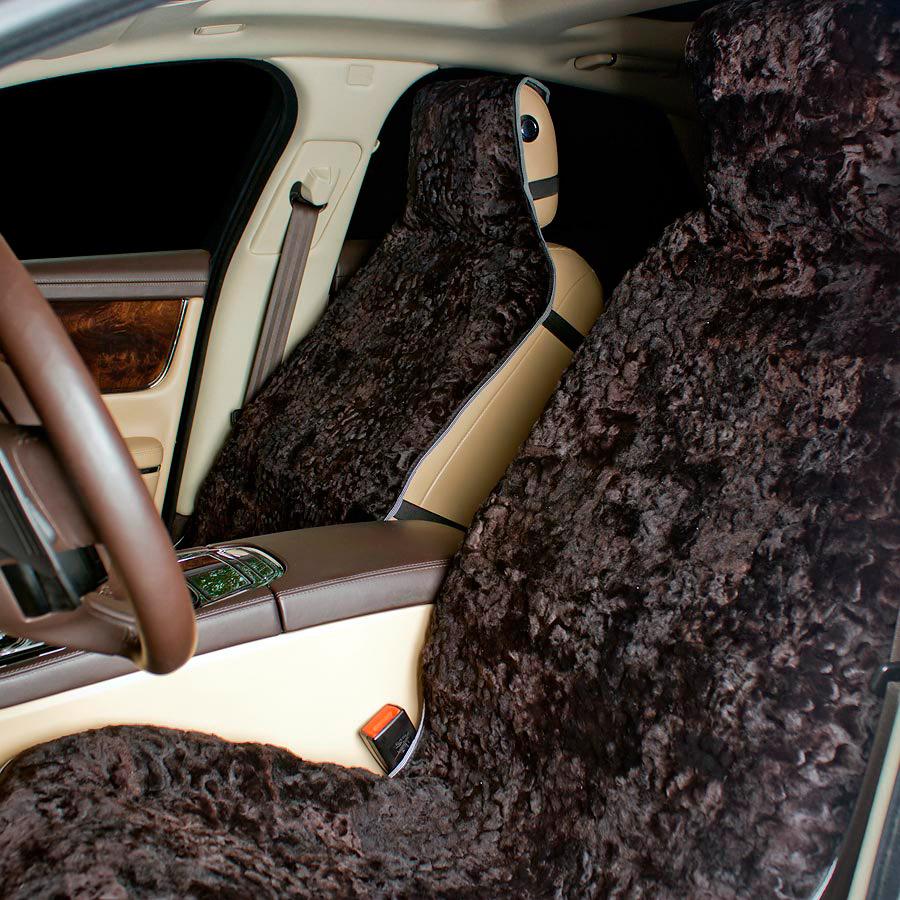 Накидка на авто сиденье  А 539 меховая 145 х 60 см
