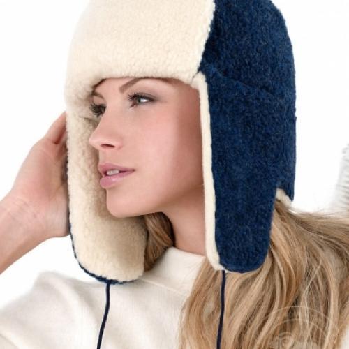 Сибирская шапка SIBERIAN WOOL, ночная синь