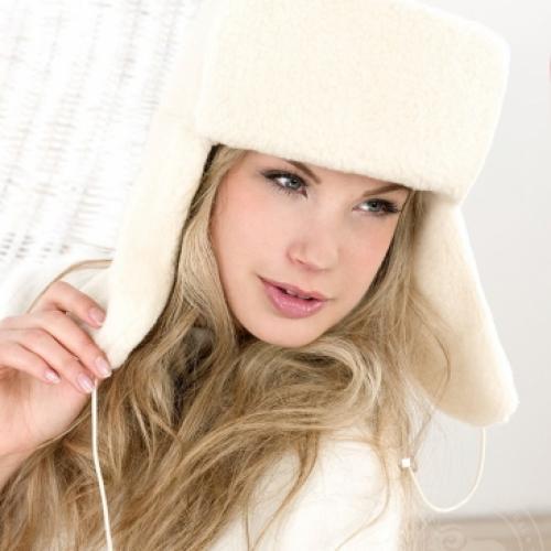 Сибирская шапка SIBERIAN WOOL, белая