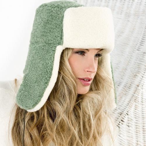 Сибирская шапка SIBERIAN WOOL, зеленый мох