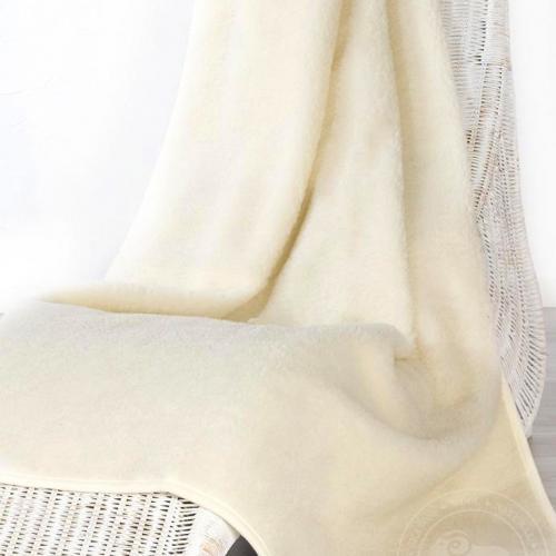 Плед из шерсти Тумблер, белый