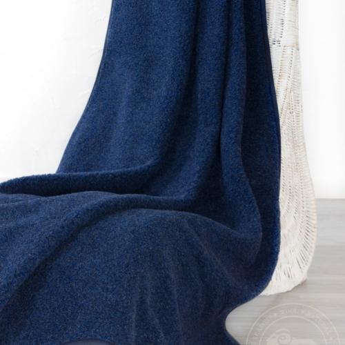 Плед из шерсти Тумблер, синий