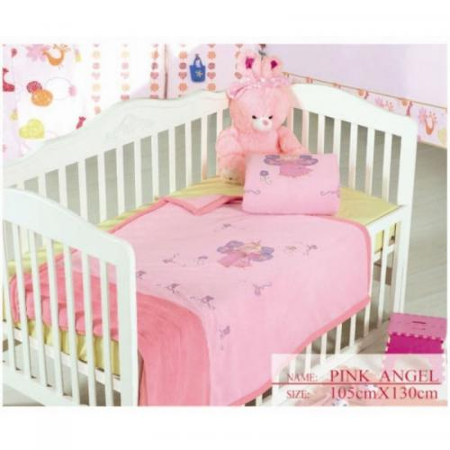 Детский плед Arya Pink Angel полиэстер 105x130