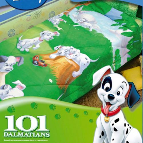 Детское одеяло Disney 101 Далматинец 140х205см зимнее 300 г/м2