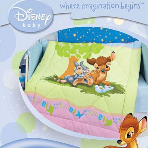 Детское одеяло Disney Baby Бемби 105х140см летнее 100 г/м2