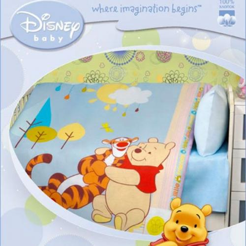 Детское одеяло Disney Baby Пух и Тигра 105х140см летнее 100 г/м2