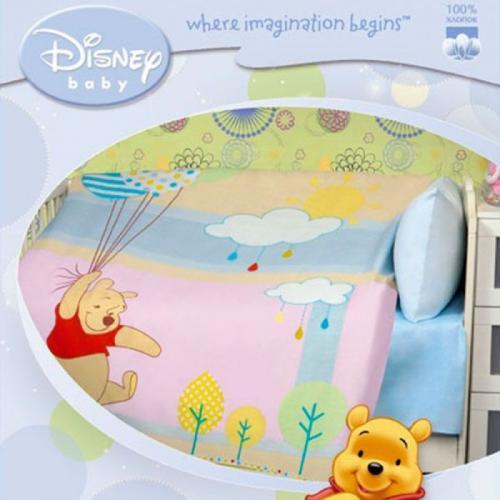 Детское одеяло Disney Baby Пух с шарами 105х140см летнее 100 г/м2