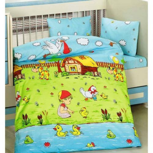 Детское постельное белье Altinbasak Dream Garden ранфорс нав(1)35x45