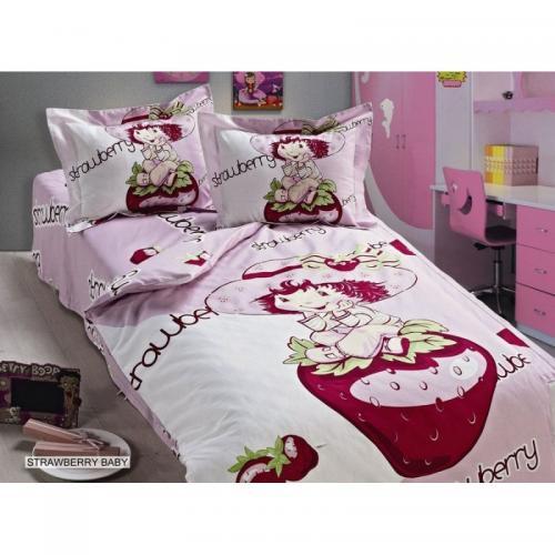 Детское постельное белье Arya Strawberry Baby сатин нав(2)35x45