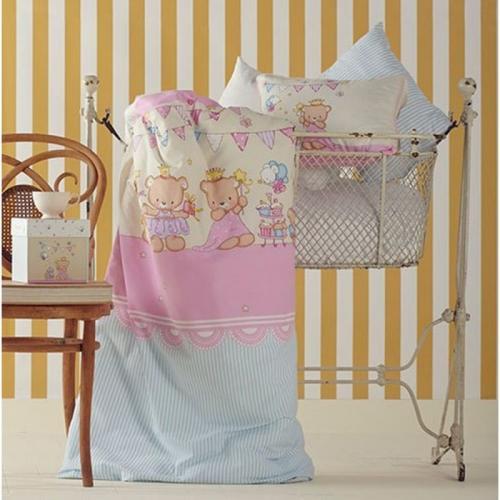 Детское постельное белье Karaca Home Amie сатин нав(2)35x45