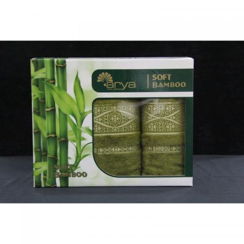 Набор бамбуковых полотенец Arya Soft Bamboo бамбук 50x90 и 70x140