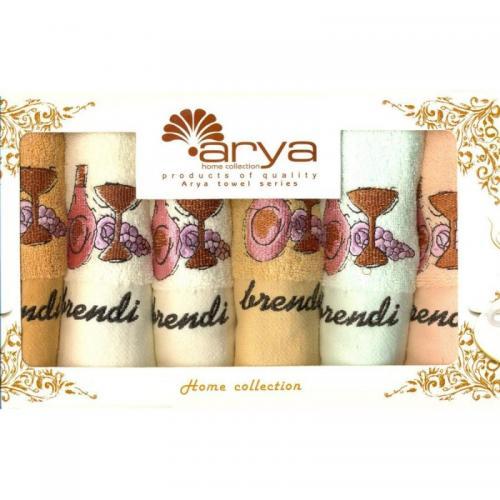 Набор салфеток Arya Brandy хлопок 30x50 6 шт.