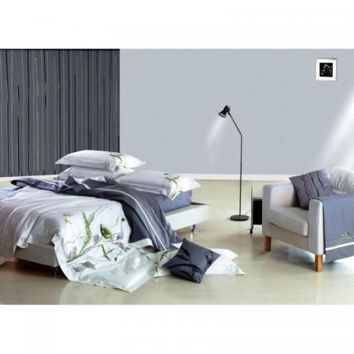 Постельное белье КПБ Famille ES-01 сатин с вышивкой 1.5-спальный нав(2)50х70