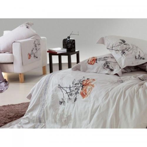 Постельное белье КПБ Famille ES-02 сатин с вышивкой 1.5-спальный нав(2)50х70