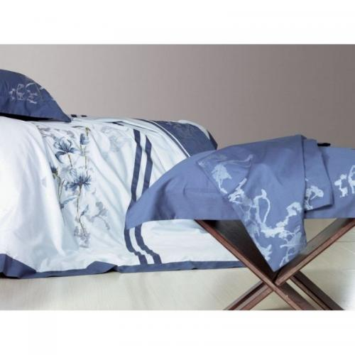 Постельное белье КПБ Famille ES-04 сатин с вышивкой 1.5-спальный нав(2)50х70