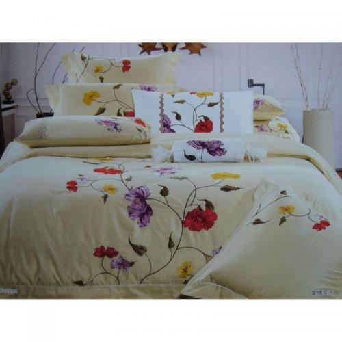 Постельное белье КПБ Valtery 100-04 сатин с вышивкой 2-спальный нав(4)
