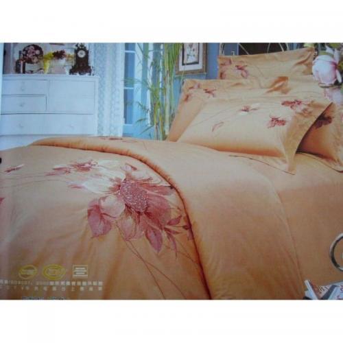 Постельное белье КПБ Valtery 100-08 сатин с вышивкой Евро нав(4)