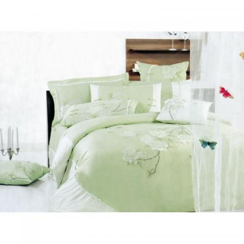 Постельное белье КПБ Valtery 100-15 сатин с вышивкой 2-спальный нав(4)