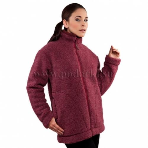 """Куртка из овечьей шерсти """"Барбара"""", бордо"""