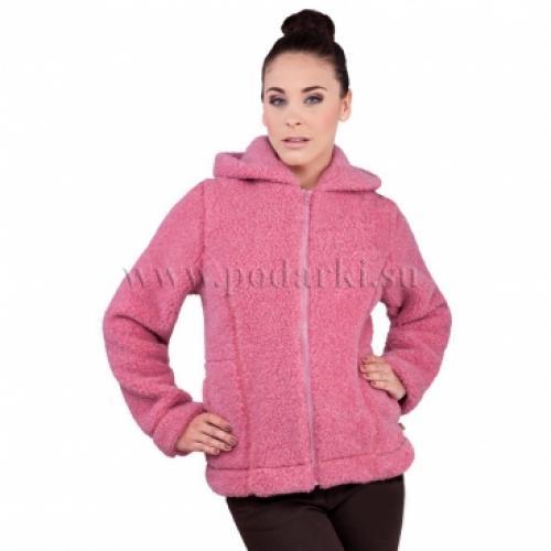 """Куртка из овечьей шерсти """"Барбара"""", розовая"""