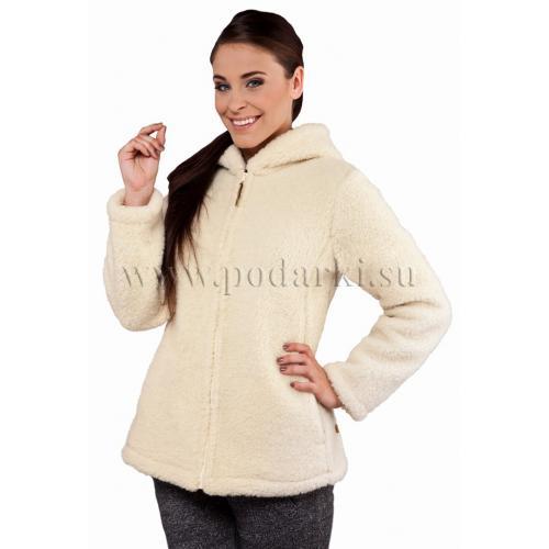 """Куртка из овечьей шерсти """"Агнес"""", белая"""