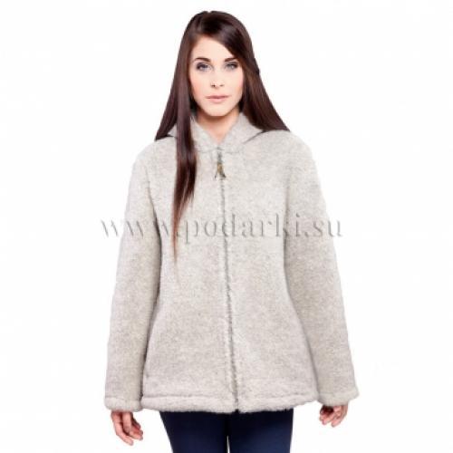 """Куртка из овечьей шерсти """"Агнес"""", светло-серая"""