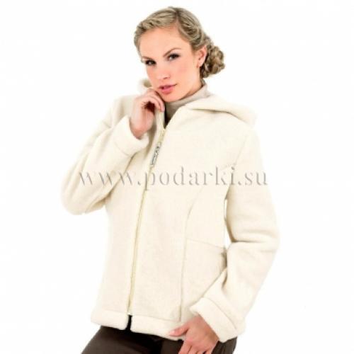 """Куртка из овечьей шерсти """"Барбара"""", белая"""
