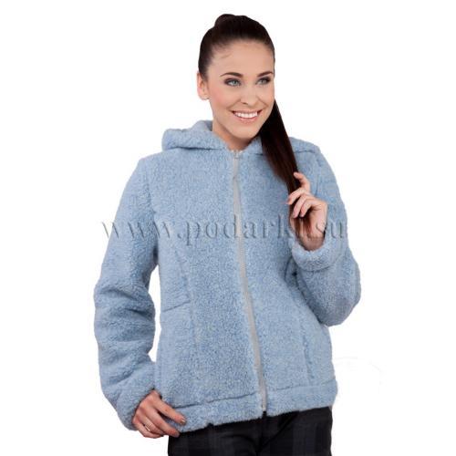 """Куртка из овечьей шерсти """"Барбара"""", голубая"""