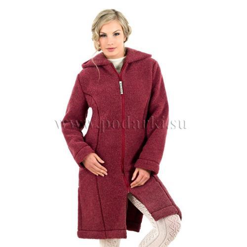 """Пальто женское """"Лина"""", бордо"""