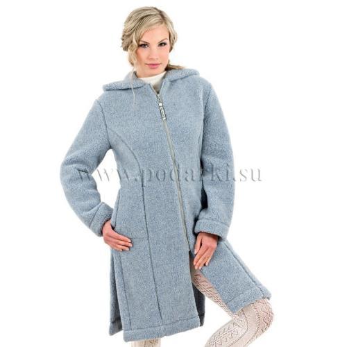 """Пальто женское """"Лина"""", голубой"""