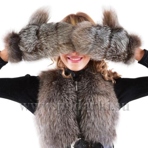 Варежки из чернобурки