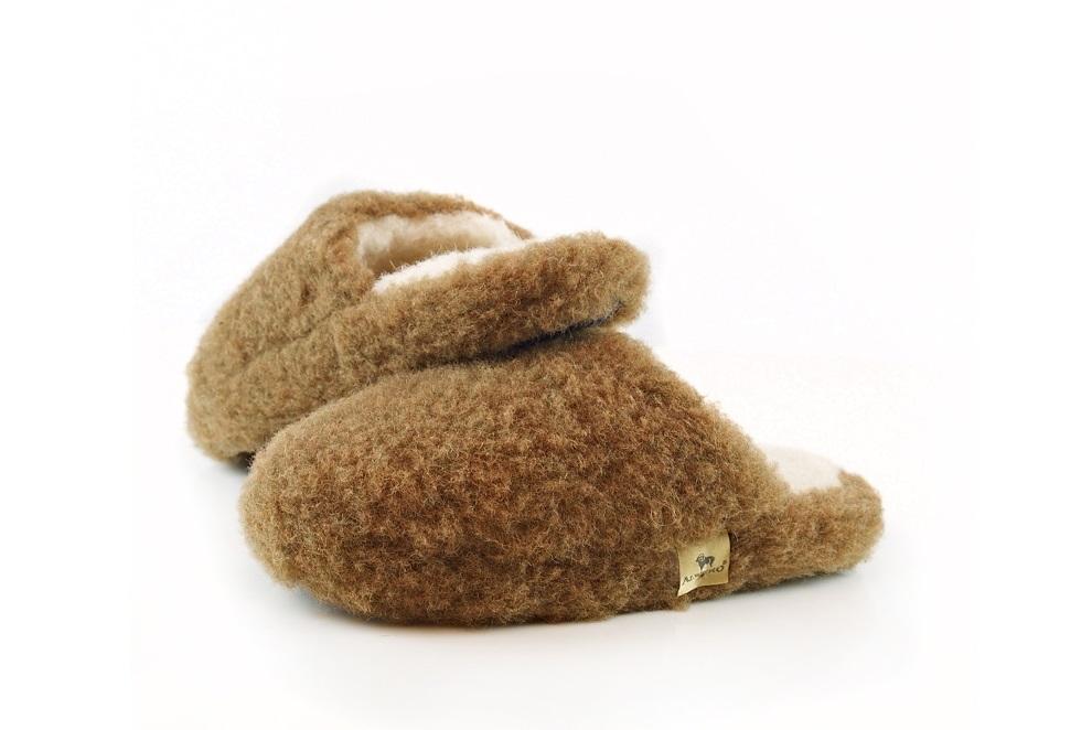 Тапочки-шлёпки из шерсти BASIC
