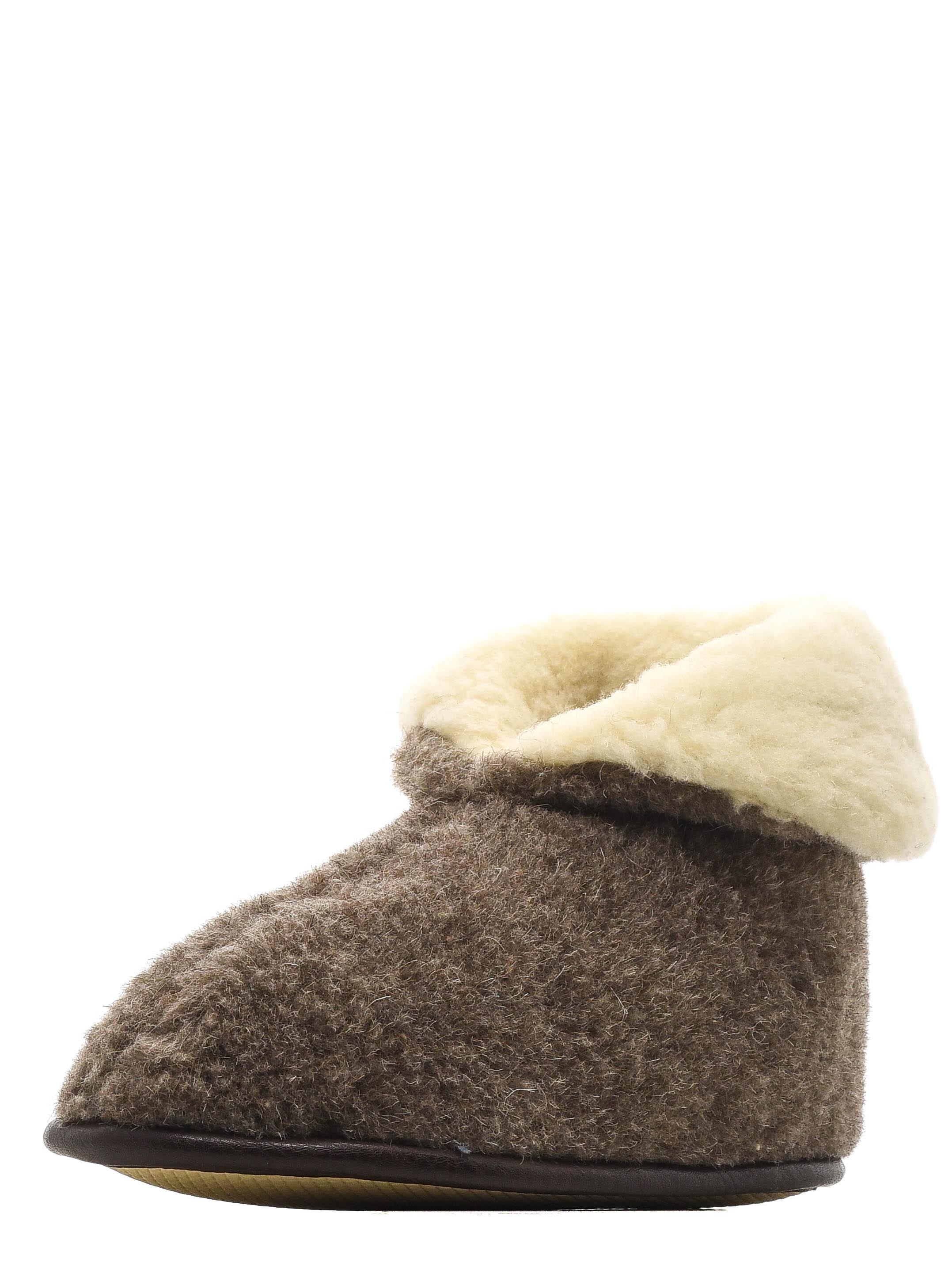 Тапочки из 100% овечьей шерсти табак Collar Long
