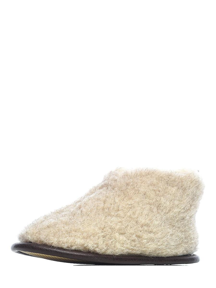 Тапочки из 100% овечьей шерсти песок Skiper hard