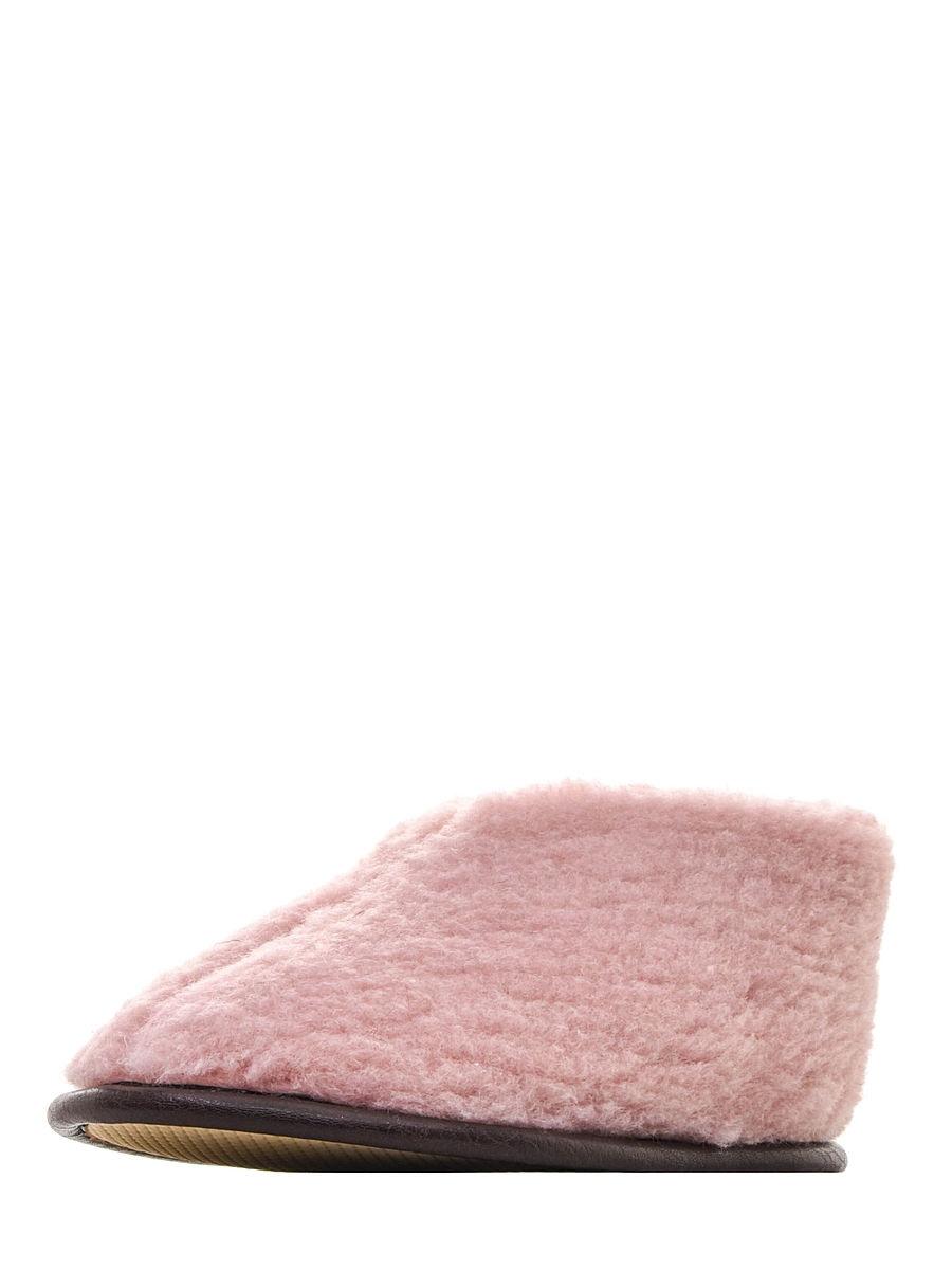 Тапочки из 100% овечьей шерсти розовые Skiper hard